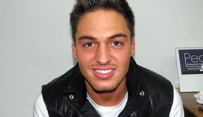 TOWIE's Mario Falcone shows off his perfect smile!