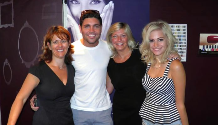 Our specialists Liz & Helen with pop star Pixie Lott & TOWIE's Tom Pearce